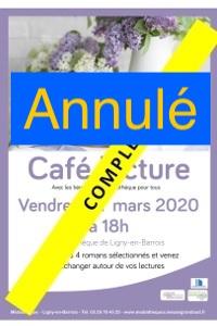 Café Lecture à la médiathèque de Ligny-en-Barrois : Annulé |